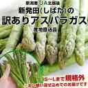 新潟県より産地直送 JA北越後  訳ありグリーンアスパラ 規格外LからSサイズ込 約1キロ