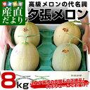 送料無料 北海道産 JA夕張市 夕張メロン 超大玉サイズ 良品以上 約8キロ(約2キロ×4玉) 市場スポット  ※クール便発送