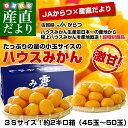 佐賀県より産地直送 JAからつ ハウスみかん 3Sサイズ  約2キロ(45から50玉)