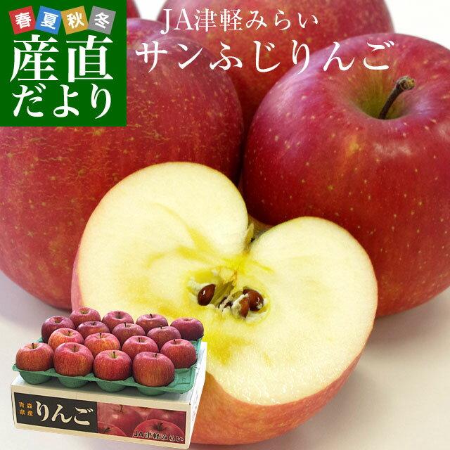 送料無料 青森県より産地直送 JA津軽みらい サンふじりんご 秀A 5キロ(16玉から18玉前後) 林檎 りんご