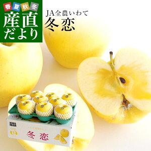 送料無料 岩手県より産地直送 JA全農いわて いわて純情りんご 冬恋(品種:はるか) 約2.5キロ (7から10玉) 林檎 りんご リンゴ