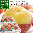 福島県より産地直送 JAふくしま未来 秀品桃 ミスピーチ 1.8キロ×2箱セット 合計3.6キロ以上 (7玉から9玉×2箱) もも …