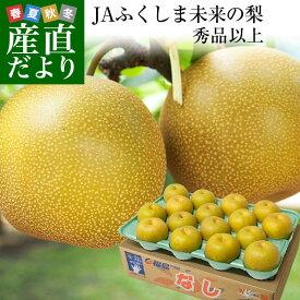 送料無料 福島県より産地直送 JAふくしま未来の梨 5キロ(10玉から16玉) なし 梨 ナシ