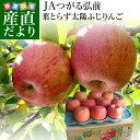 お一人様2箱まで! 青森県より産地直送 JAつがる弘前 葉とらず太陽ふじりんご りんご 3キロ(9玉から13玉) 送料無料 糖…