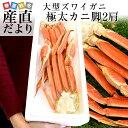 北海道から直送 大型ズワイガニ 極太カニ脚 2肩分 総重量800g  かに カニ脚 蟹足