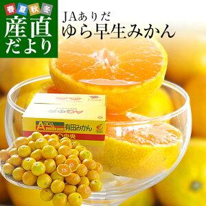 送料無料 和歌山県より産地直送 JAありだ ゆら早生みかん 5キロ SからSSサイズ 蜜柑 ミカン