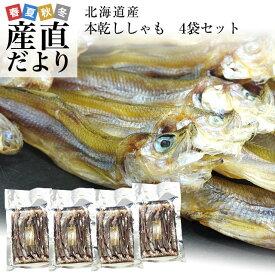 送料無料 北海道から直送 北海道産 高級珍味 本乾ししゃも 4袋セット (25g×4P)