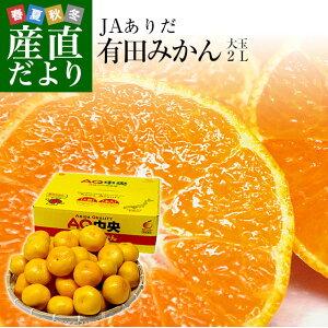 和歌山県より産地直送 JAありだ 有田みかん 大玉 2Lサイズ 4.5キロ(30玉前後) 送料無料 蜜柑 ミカン お歳暮 御歳暮
