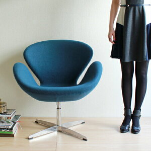 【デザイナー:アルネ・ヤコブセン】商品名:SWANChair(スワンチェア)ファブリック【復刻版/リプロダクト】【椅子】【ソファ】【アームチェア】【回転式】【デザイナーズ家具】【楽天】【通販】