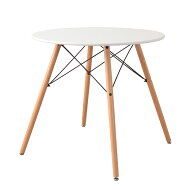 商品名:エッフェルレッグ・ダイニングテーブル(直径80cm)【DSW】【DSR】【木製】【カフェテーブル】【ダイニング】【イームズ】【ウッドベース】【丸テーブル】【直径80】【セブンチェア】【SPT】【ワイヤーテーブル】【40】【Yチェア】