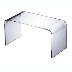 【日本製】【UV加工】【アクリル】WAAZWIZ(ワーズウィズ)商品名:Plain low table - S (コーヒーテーブル)【透明】【家具】【軽い】【デザイン】【テレビ台】【透ける】【プラスチック】【
