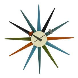 【デザイナー:ジョージ・ネルソン】商品名:Sunburst clock(サンバースト・クロック)【リプロダクト/復刻版】【05P28may10 】【P28may10 新規店 】【お買い物マラソン06】【tokubai0525】