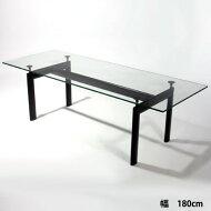 【デザイナー:ル・コルビジェ】商品名:LC6ダイニングテーブルw180【ハイクラス・リプロダクト/復刻版】【ガラステーブル】【モダン】【楽天】【通販】