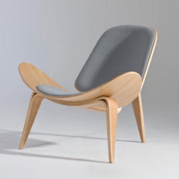 【デザイナー:ハンス・J・ウェグナー】 商品名:CH07 シェルチェア(CH07 Shell chair)ファブリック【ハイクラス・リプロダクト/復刻版/保証付き】【北欧】【ラウンジチェア】【セミオーダー】【デザイナーズ家具】