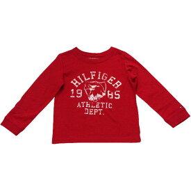 【セール】Tommy Hilfiger(トミーヒルフィガー) イーグルロゴプリントTシャツ(Red)