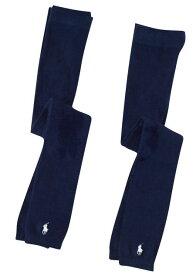 Ralph Lauren(ラルフローレン) ワンポイントフットレスタイツ(Navy)2足セット/レギンス・スパッツ