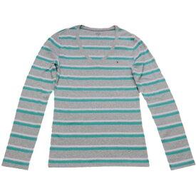 【レディース】Tommy Hilfiger(トミーヒルフィガー) VネックボーダーTシャツ