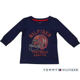 Tommy Hilfiger(トミーヒルフィガー) ヘルメットプリントロゴTシャツ(Navy)