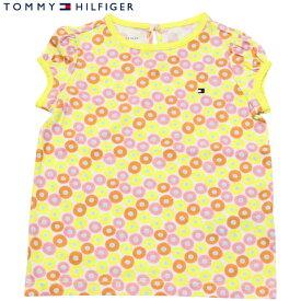 Tommy Hilfiger(トミーヒルフィガー) フラワーサークルワンポイントTシャツ(Yellow)