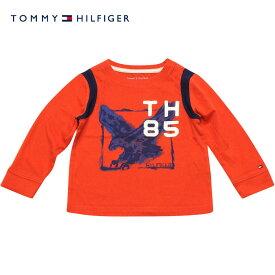 Tommy Hilfiger(トミーヒルフィガー) TH85イーグル長袖Tシャツ(Red)/ロンT