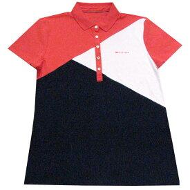 【レディース】Tommy Hilfiger(トミーヒルフィガー) デザイン半袖ポロシャツ