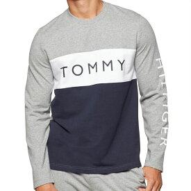 【メンズ】Tommy Hilfiger(トミーヒルフィガー) トリコロールTOMMYロゴスウェット(Gray/Navy/White)/薄手トレーナーSLEEPWEAR☆ギフト・プレゼントに!