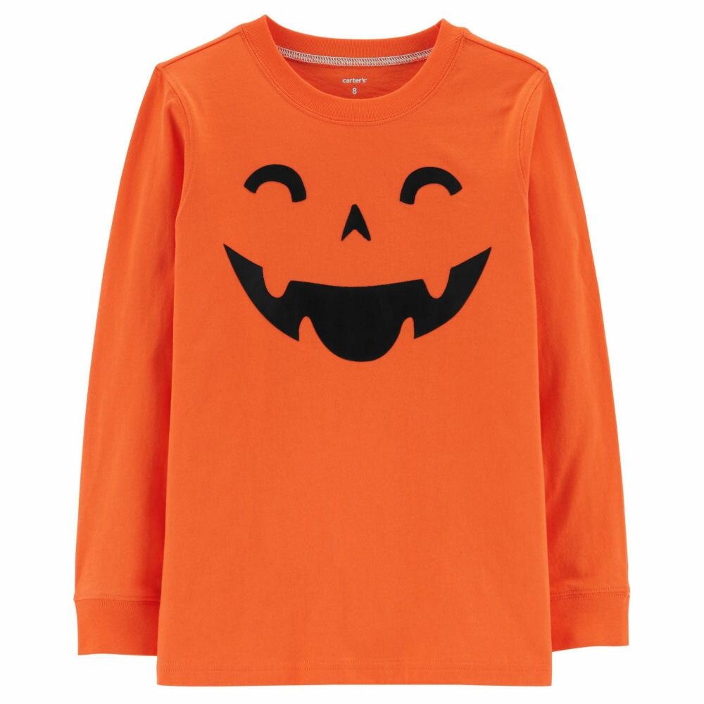 【キッズ】Carter's(カーターズ)パンプキンゴーストTシャツTシャツ(Orange)/ハロウィンHalloween