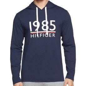 【メンズ】Tommy Hilfiger(トミーヒルフィガー) 1985HILFIGERフード付長袖Tシャツ(Navy)/プルオーバーパーカーSLEEPWEAR☆ギフト・プレゼントに!