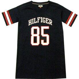 TOMMY HILFIGER DENIM(トミーヒルフィガー デニム) HILFIGER85ロング丈ゲームシャツ(Navy)/Tシャツチュニックワンピース