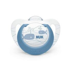 NUK(ヌーク) おしゃぶりジーニアス(消毒ケース付)/0-6カ月/クジラ