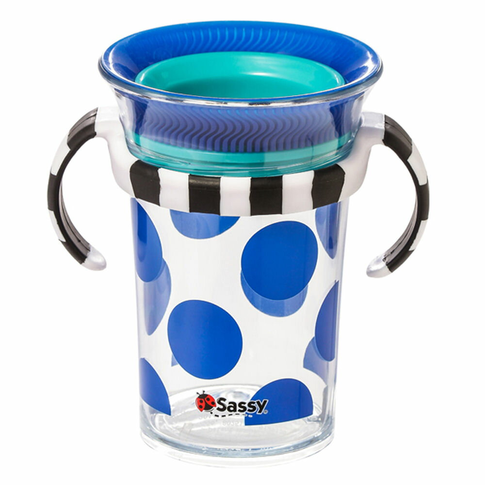 Sassy(サッシー) ハンドル付きトレーニングコップ/ブルー