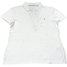 【アウトレット/レディース】Tommy Hilfiger(トミーヒルフィガー) スキッパーデザイン鹿の子ポロシャツ(White)
