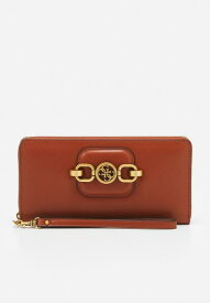 Guess ゲス アクセサリー HENSELY CHEQUE ORGANIZER - Wallet - whiskey