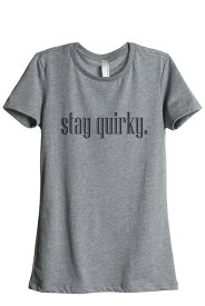 HEATHER 衣類 トップス Thread Tank Stay Quirky Women's Relaxed Crewneck T-Shirt Tee Heather Grey Small