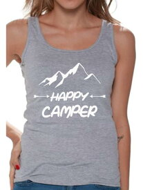 Camper カンペール 衣類 トップス Awkward Styles White Happy Top for Her Happy Women Tank Top T Shirt for Wife Happy Tank Top for Women Camping Clothes for Her Happy Tank Top for Girlfriend Camping Lovers