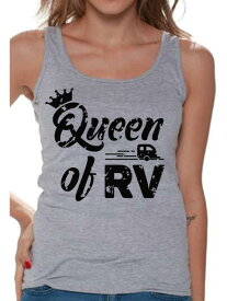 Camper カンペール 衣類 トップス Awkward Styles RV Queen Tank Top for Women RV Clothing for Ladies Recreational Vehicle RV Trip Accessories Camping Lovers Gifts Camping Clothes for Her Tanks for Wife Queen Shirt for Women