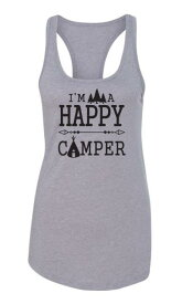 Camper カンペール 衣類 トップス I'm A Happy Camping Hiking Summer Vacation Women Tank