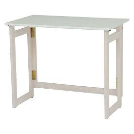 折りたたみテーブル 幅80 ホワイト 白 奥行40 高さ65 ハイタイプ 折り畳み 折畳み 木目 木製 ベージュ テーブル デスク 木製 おりたたみ キャスター 新生活 作業台 スペース活用 VT-7811WS