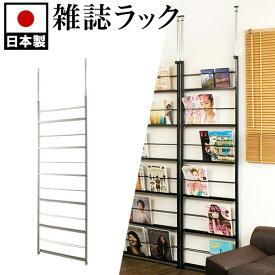 ディスプレイ式パーテーション 幅60cm 日本製 間仕切突っ張り 本棚 パーティション つっぱり式 間仕切り マガジンラック 雑誌 おしゃれ スリム マガジンスタンド おしゃれ