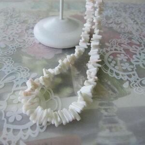 白珊瑚枝のネックレス/SILVERアジャスター/『宝石サンゴ』