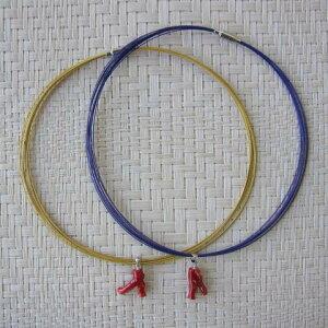 高知産赤サンゴ枝のペンダントネックレス(カラーワイヤー10連)/さんご/『宝石珊瑚』