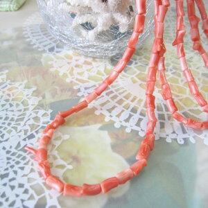 ピンク珊瑚枝のネックレスSILVERアジャスター/天然さんご・サンゴ/送料無料【smtb-KD】