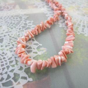ピンク珊瑚枝のネックレス/約40センチ/SILVERアジャスター/『宝石サンゴ』