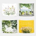 タペストリー 夏 フラワー シンプル ボタニカル ファブリック ポスター 北欧 おしゃれ ウォールフラッグ 花 テーブル…