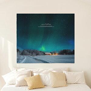 タペストリー ラフランドオーロラ 150x130cm ポスター 北欧 かわいい おしゃれ 風景 壁掛け 植物 スプリング シンプル 大きめ 花 ピンク サンサンフー