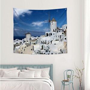 タペストリー 地中海 150x130cm ポスター 北欧 かわいい おしゃれ 西海岸 ビーチタオル 柄 インテリア 飾り 風景 ボタニカル ピンク シンプル サンサンフー