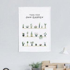 タペストリー ガーデニング 50x70cm ポスター 北欧 かわいい おしゃれ 大きめ フラワー 花 北欧雑貨 壁掛け 植物 花柄 風景 ピンク サンサンフー