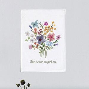 タペストリー プチガーデン 50x70cm ポスター 北欧 かわいい おしゃれ アニマル ナチュラル 花 シンプル 植物 壁掛け スプリング 柄 サンサンフー