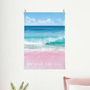 タペストリー ピンクサンド 50x70cm ポスター 北欧 かわいい おしゃれ フラワー スプリング 花 インテリア 植物 壁掛け 風景 木 サンサンフー
