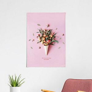 タペストリー ローズブーケ 50x70cm ポスター 北欧 かわいい おしゃれ 大きめ ナチュラル インテリア 風景 ボタニカル 花柄 スプリング ピンク サンサンフー